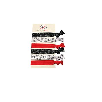 Girls Volleyball Hair Ties -Red