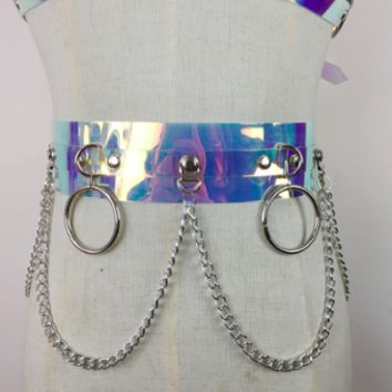 Harajuku Girl Belt in Holographic Realness