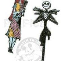 Disney Pin - NBX - Jack and Sally - 2 Pin Set