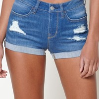 PacSun Rigby Blue Denim Festival Shorts at PacSun.com - indigo blue | PacSun