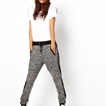 ASOS | ASOS Sweatpants with PU Pocket at ASOS