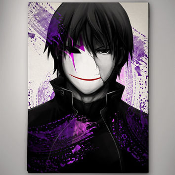 Darker Than Black Hei  Anime Manga Watercolor Print Poster 11.70 x 16.50 A3 No350