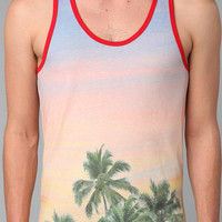 Altru Allover Palm Tree Tank Top