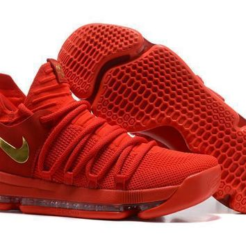 Nike Mens Kevin Durant Kd 10 Chinese Red Basketball Shoes