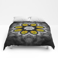 cat eye mandala Comforters by aidaart