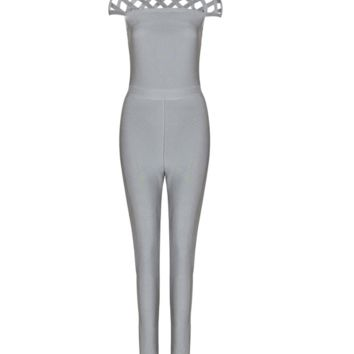 Lona Gray Jumpsuit
