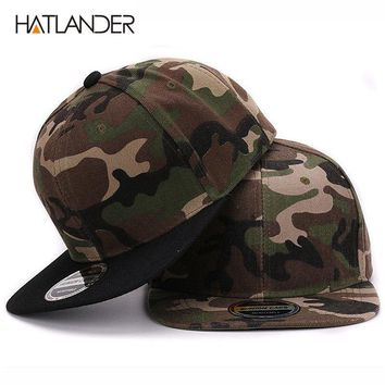 Camouflage Snapback Navy Hiking Fashion Polyester Flat Woman Man Baseball Cap