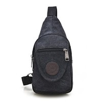 Men's Fashion Casual Travel Canvas Cross Body Chest Pack Hiking Bag Sports Bag