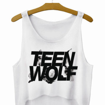 Teen Wolf Letters Crop Top Summer Style Tank Top Women's Tops