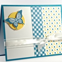 Any Occasion Handcrafted Card With Butterfly And Flowers