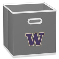 NCAA University of Washington Fabric Storage Drawer in Grey