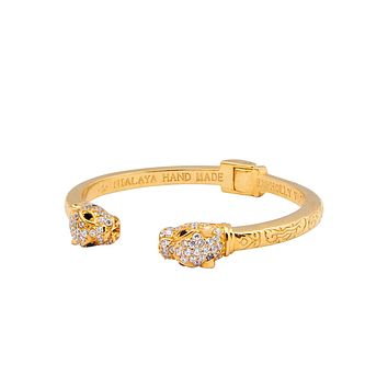 Women's Panther Bangle in Gold