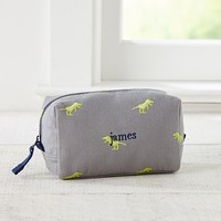 Taylor Gray Dino Embroidered Sleepover Toiletry Pouch | Pottery Barn Kids