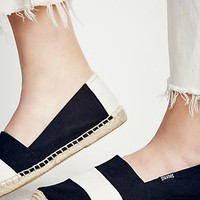 Free People Chambray Stripe Espadrilles
