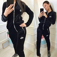 NIKE Fashion Letter Long Sleeve Shirt Sweater Pants Sweatpants Set Two-Piece Sportswear-6