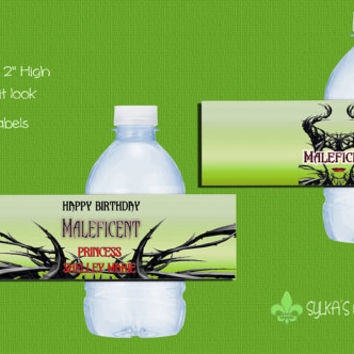 Bottle Labels-DIY-Custom-Personalized-Maleficent