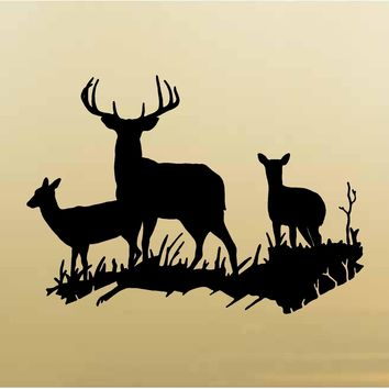 Fawn Doe Buck Wall Decals Mural Home Decor Vinyl Cabin Decor Stickers