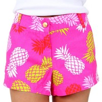 Down By The Seaside Hot Pink Pineapple Print Shorts | Monday Dress Boutique