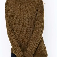 New Look Turtle Neck Over Sized Jumper at asos.com