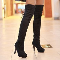 Meotina Shoes Women  Thigh High Boots Over The Knee Boots High Heels