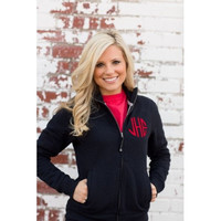 Monogrammed Full-Zip Sweatshirt - Women's Sizes