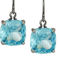 Bottega Veneta - Oxidized sterling silver cubic zirconia earrings