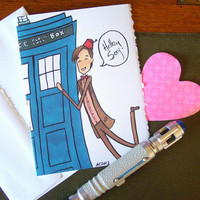 Doctor Who Valentine Card - Eleven says Hello Sexy