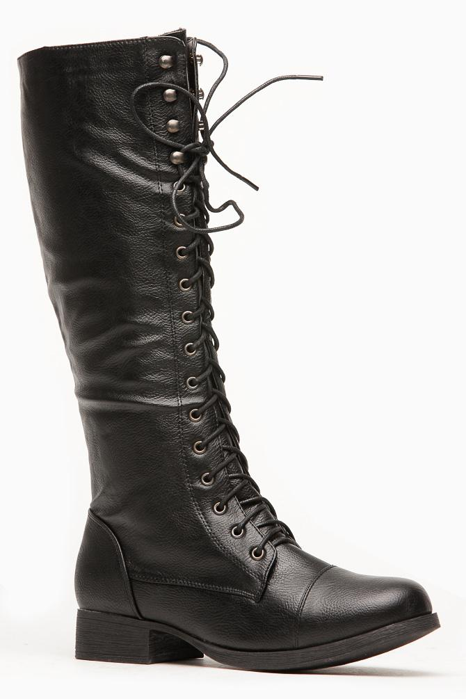 cdd61d34953 Bamboo Fighter High Length Combat Boot   from CICI HOT