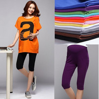 Hot Women Lady Pregnancy Legging 3/4 Length Solid Maternity Cotton Leggings Pant-  -N5 = 1945720580