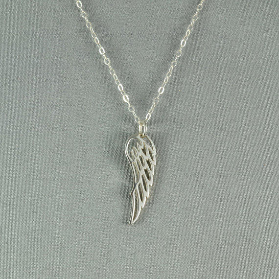 Angel Wing Necklace 925 Sterling Silver From