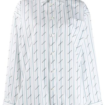 Ladies All Over Logo Print  Dress Shirt by Balenciaga