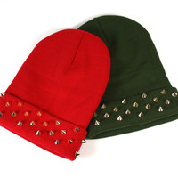 Gold Spiked Beanie