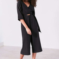 Silence + Noise Kimono Wrap Culotte Jumpsuit - Urban Outfitters