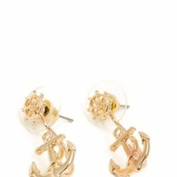 Wheel N Anchor Earrings - GoJane.com
