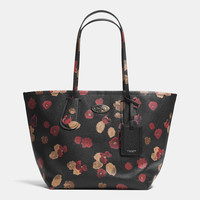 COACHtaxi tote 28 in floral print leather