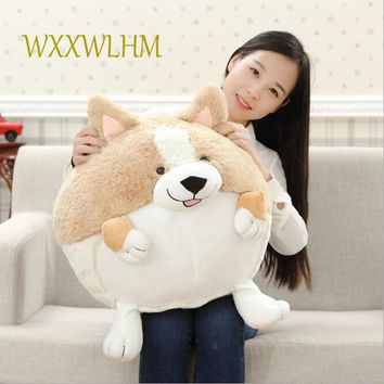 50CM corgi dog plush toy doll short leg ball dog  doll creative pillow PP cotton stuffed plush baby toys children gift