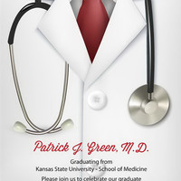 Doctor Graduation Invitation - Dr. Graduation Announcement Card - Doctor Invitation - Grad Party