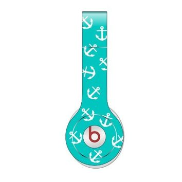 Teal Anchor Refuse to Sink Decal Skin for Beats By Dre Solo HD Headphones