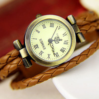 Elegant Watch With Fashion Leather .. on Luulla