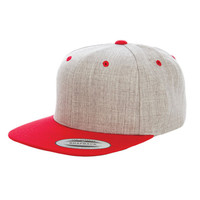 Flexfit Classic Snapback Cap - One Size Fits Most - New Colors - Heather - Brand New Style - Streewear Style  - Yupoong Hat