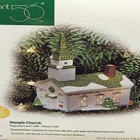 Dept 56 Steeple Church Ornament Lighted