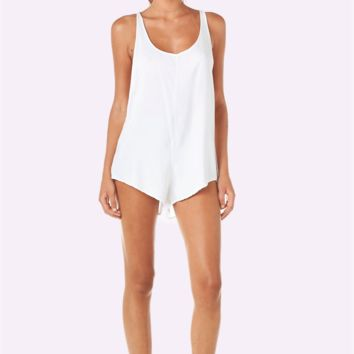 Bean Romper (White)