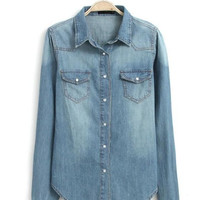 OM Vintage Wash Denim Shirt
