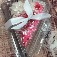 Sugared Roses Cake Slice Bath Bomb-Large