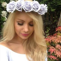 Lilac Flower, Floral Crown Handmade from A Secret Statement