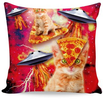 RoCP Bacon Pizza Space Cat Couch Pillow