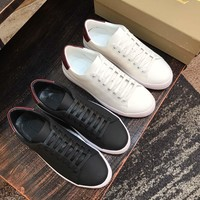 Burberry Men's Leather Fashion Low Top Sneakers Shoes