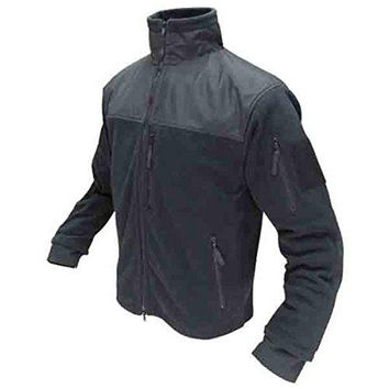 Alpha Fleece Jacket Color- Black (Medium)