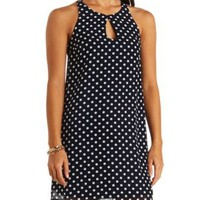 Polka Dot Chiffon Shift Dress by Charlotte Russe
