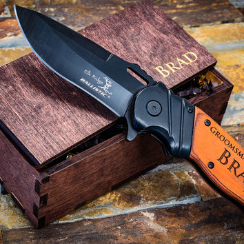 Hunting Knife - Personalized Pocket Knife - Custom Engraved Knife - Perfect Personalized Gift for Boyfriend